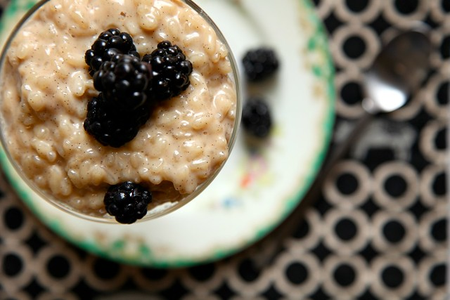 Risotto Rice Pudding with brown sugar and vanilla