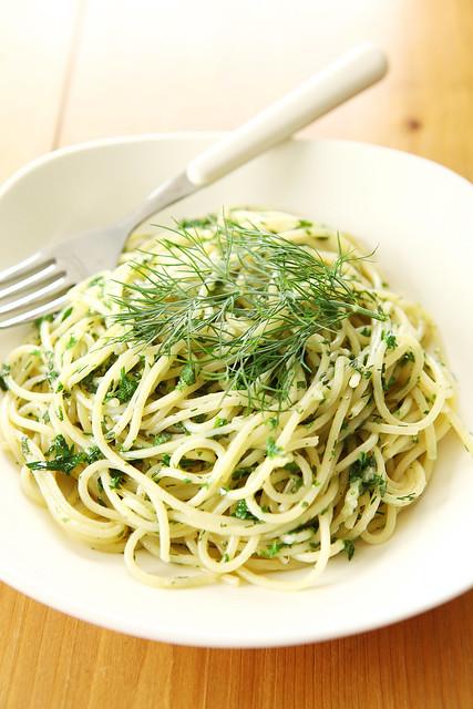 pasta met verse kruidenboter