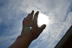 untitled (commented) Tags: city blue sky colors nikon paint hand reaching magic dramatic nights capture 1001 nctrc