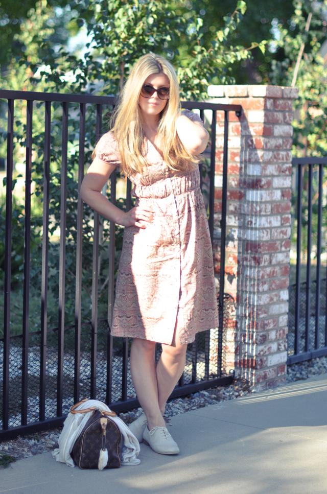 bcbg max azria simple peasant dress