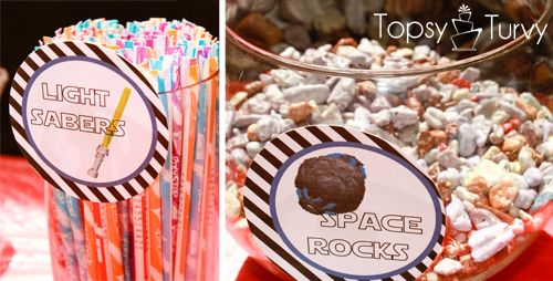 Lego-Star-Wars-birthday-party-food-light-sabers-space-rocks