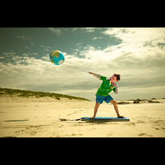 Beach Surfing II, Tiree (PMMPhoto) Tags: family boy portrait beach island scotland globe photographer body earth glasgow board  balloon lifestyle surfing tiree lanarkshire strathaven paulmcgee donotusewithoutpriorpermission summertimeuk pmmphoto