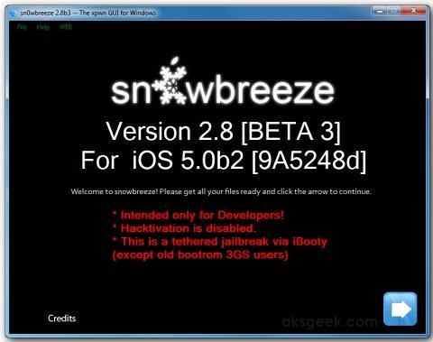 sn0wbreeze v2.8 beta 3