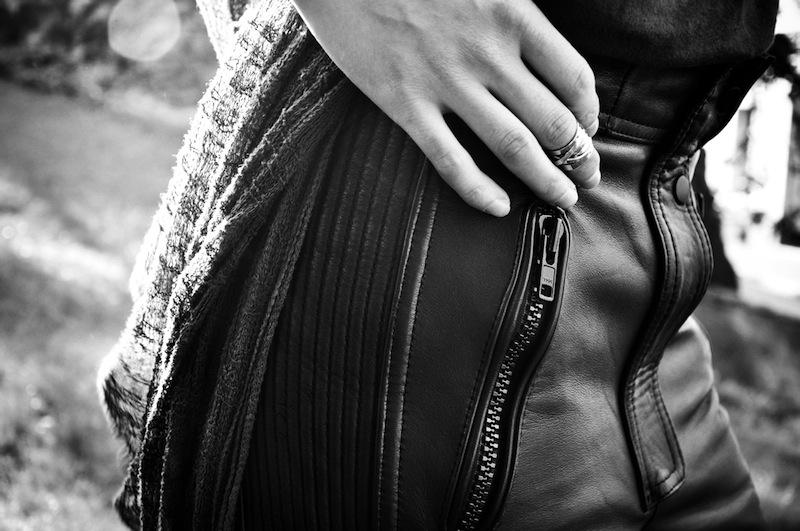 Refashioned biker pants OutsaPop photo Stella Harasek