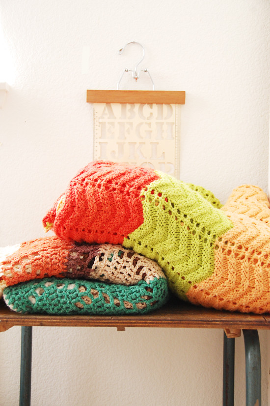 vintage crocheted blankets