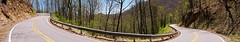 Dogget Gap Pano (Capricorn Bicycles) Tags: road mountain max bike bicycle ride north adventure explore carolina appalachian patch gravel