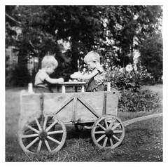 ochtezeele septembre 1954 - Le chariot alsacien (gueguette80 ... qui ne voit toujours pas trop bien) Tags: bw noiretblanc nb chariot nord 59 alsacien flandre ochtezeele
