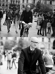 [La Mia Citt][Pedala] con il BikeMi (Urca) Tags: milano italia 2016 bicicletta pedalare ciclista ritrattostradale portrait dittico bike bicycle nikondigitale mir biancoenero blackandwhite bn bw nn 89155 bikemi bikesharing