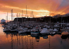 Port of Funchal - Madeira (_BSnake_) Tags: funchal port harbour boats sky sunsetfunchal madeira portugal see ocean boat cruise terminal yacht wind hafen wasser