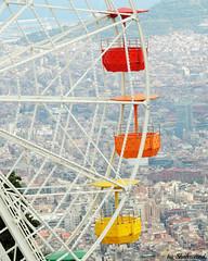 View on Barcelona (Shahrazad26) Tags: tibidabo reuzenrad riesenrad ferriswheel barcelona spanje spain spanien espagna espagne