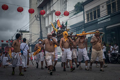 Phuket's 'Vegetarian Festival' 2016 (jerome taylor) Tags: photojournalism journalism travel travelphotography streetphotography street asia thailand thai religion taoism tao vegetarianfestival vegetarian phuketvegetarianfestival nineemperorgods faith piercing tattoo bodypiercing