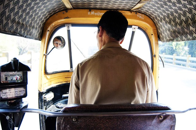 in a rickshaw