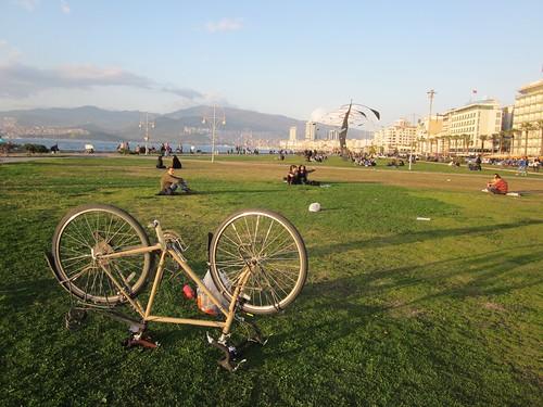 Fixing my bike in Izmir