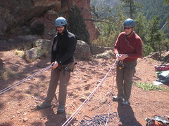 Franchesco and Roger Practice Rope Handling Skills