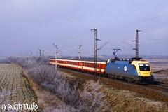 1047 009-4, 29.12.2008, Hegyeshalom (mienkfotikjofotik) Tags: train eisenbahn rail railway taurus bahn máv kolej koleje 1047 vasút es64u2 állam vasutak