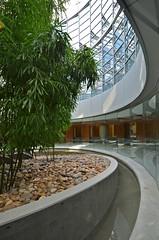 Hospital healing garden courtyard (Pixel Fusion) Tags: architecture photoshop hospital garden aperture nikon courtyard architectural hdr tonemap photomatrix healinggarden d7000