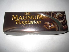 Langnese Magnum Temptation Chocolate (Like_the_Grand_Canyon) Tags: food ice dessert am pieces sweet chocolate cream creme brownie eis popsicle stiel