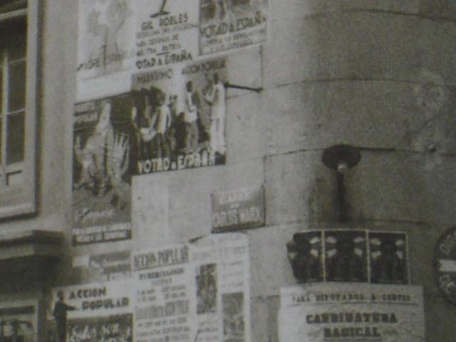 Placa con el nombre de la Calle Arco de Palacio cuando fue denominada Calle Carlos Marx durante la II República