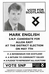 SNP Local Council Election Leaflet, 1992 (Scottish Political Archive) Tags: party english scotland election scottish national 1992 local publicity campaign snp clackmannan