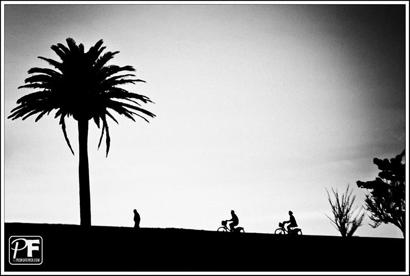 Siluetas pedaleando