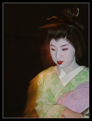 Maquillaje de una geisha