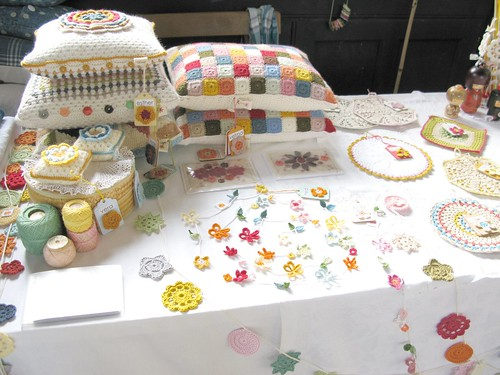 My stall at The Selvedge Spring Fair 2011 by Emma Lamb