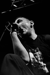 Here There Be Monsters - Ant (Black & White edit) (Phil Steere) Tags: metal sussex nikon brighton phil live gig band eastsussex concorde2 2011 steere heretherebemonsters htbm d3100 nikond3100 lastfm:event=1733547 philsteere