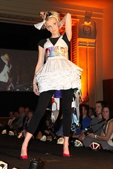 Photo from recycled fashion show