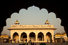 Inside the Red Fort, Agra (viwehei) Tags: india architecture buildings golden ancient triangle asia delhi indian agra jaipur rajasthan