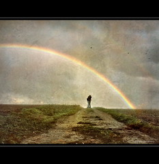 Under the Rainbow - Optimism (h.koppdelaney) Tags: life bridge art reunion digital photoshop hope rainbow peace treasure view friendship symbol unity union joy picture happiness philosophy health luck mind awareness metaphor enlightenment optimism psyche wealth symbolism psychology archetype conscious optimismus koppdelaney