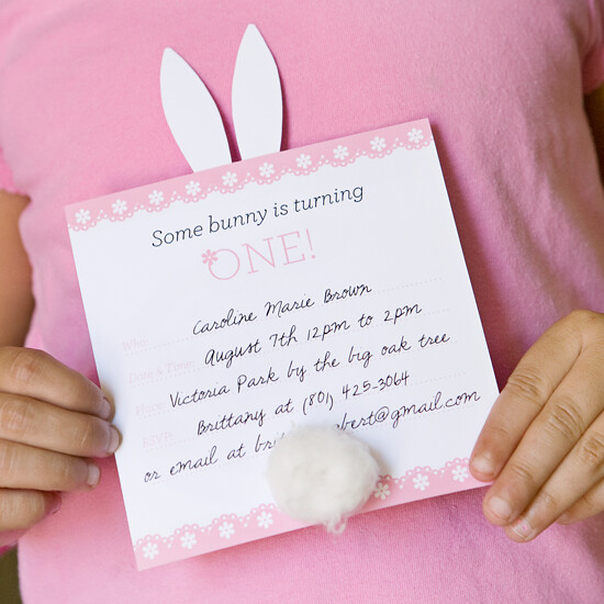 Free Bunny Invitation Printable