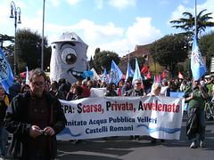 Rom 26.03.2011: Wasserhahn bei der Mobilisierungsdemo zum Referendum am 12. Juni 2011