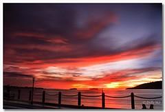 Have a nice weekend people! ;) (Dolly MJ) Tags: sunset sky sun color kotakinabalu redsky sabah kk beautifulsunset colorfulclouds northborneo jesseltonpoint kotakinabalusunset sabahsunset borneosunset beautifulkk