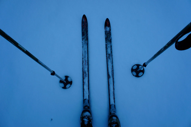 Skis. Boots. Poles.