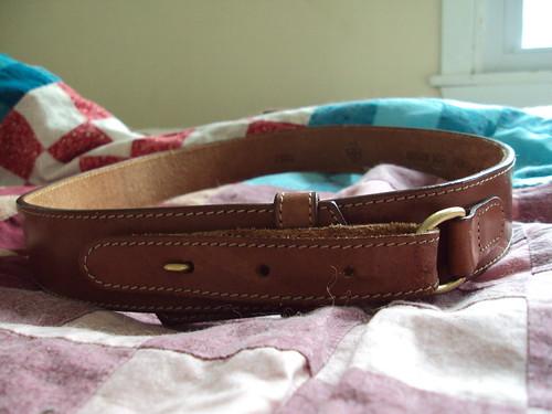 Cool Buckle Brown Belt