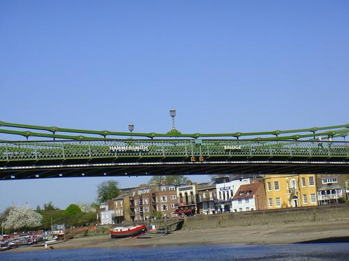 Llegada a Hammersmith Bridge