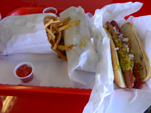 foot long & fries from Suzie Burger