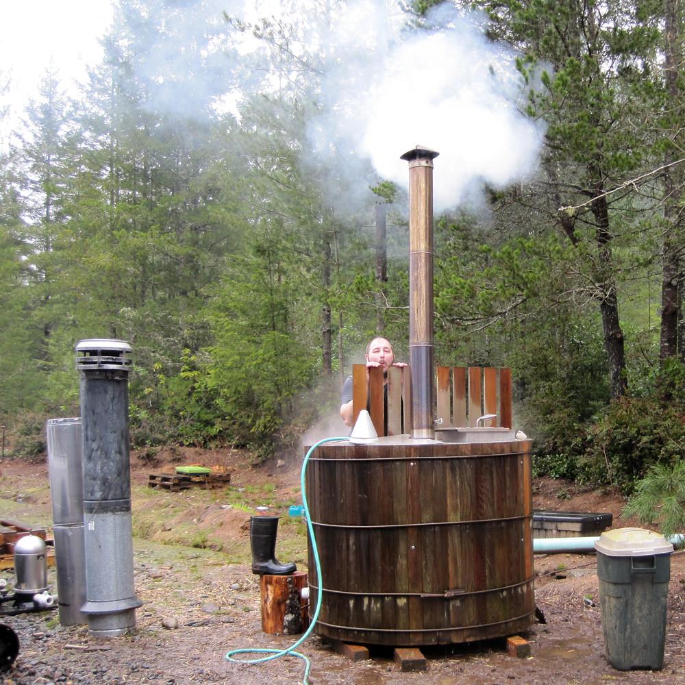 Wood fired tub, part II