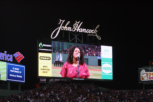 National Anthem on the big screen