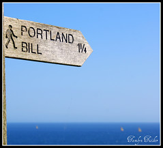 Portland Bill This Way (ttamzz) Tags: uk blue red sea summer england lighthouse white holiday beach beautiful easter seaside spring walk postcard south sunny april soutwest weymouth idealic portlandbill southwell jurassiccoast 2011