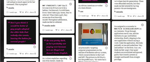 Screenshot from microaggressions.com homepage