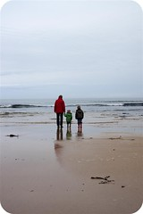 14-4-2011 (Copperhobnob) Tags: family sky shells seaweed rock clouds sand watching picnik stcombsbeach