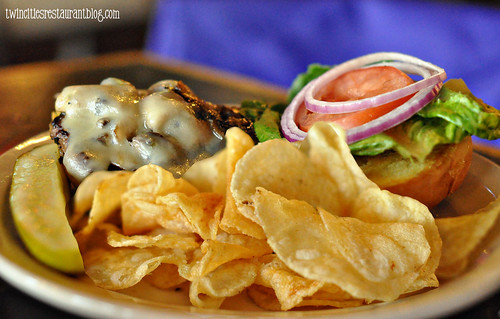 Mushroom Swiss Burger at Rafters Food & Spirits ~ Stillwater, MN copy