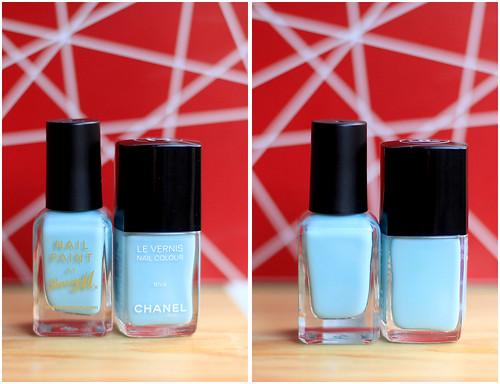 Chanel Riva vs Barry M Blue Moon