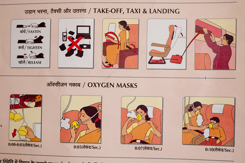 Air India safety card