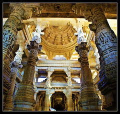 The Splendour...(Explored) (PNike (Prashanth Naik..back after ages)) Tags: india art architecture nikon god crafts religion structure holy temples pillars jain sculptures rajasthan udaipur ranakpur intricate krishlikesit pnike