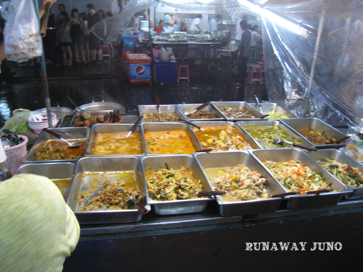 A stall full of Thai curry
