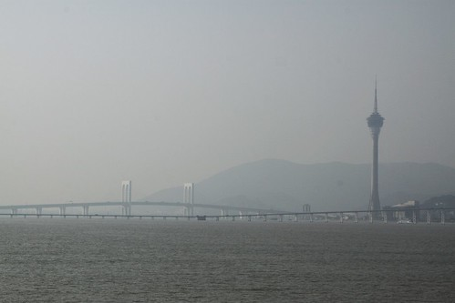 Macau Tower beside the water