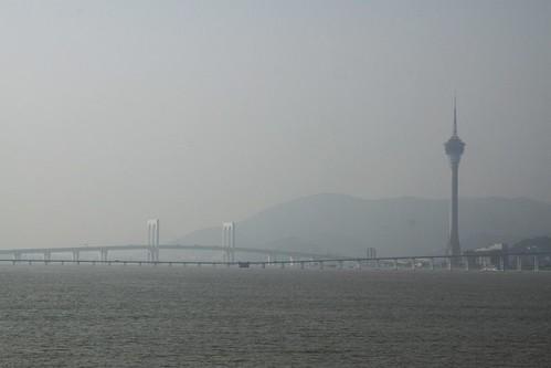 Macau Tower beside the water