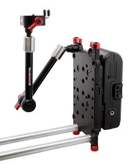 Zwiss Plate mounted with accessories (Zacuto) Tags: rods batteries cameraaccessories zacuto articulatingarms 15mmrods converterboxes switronix